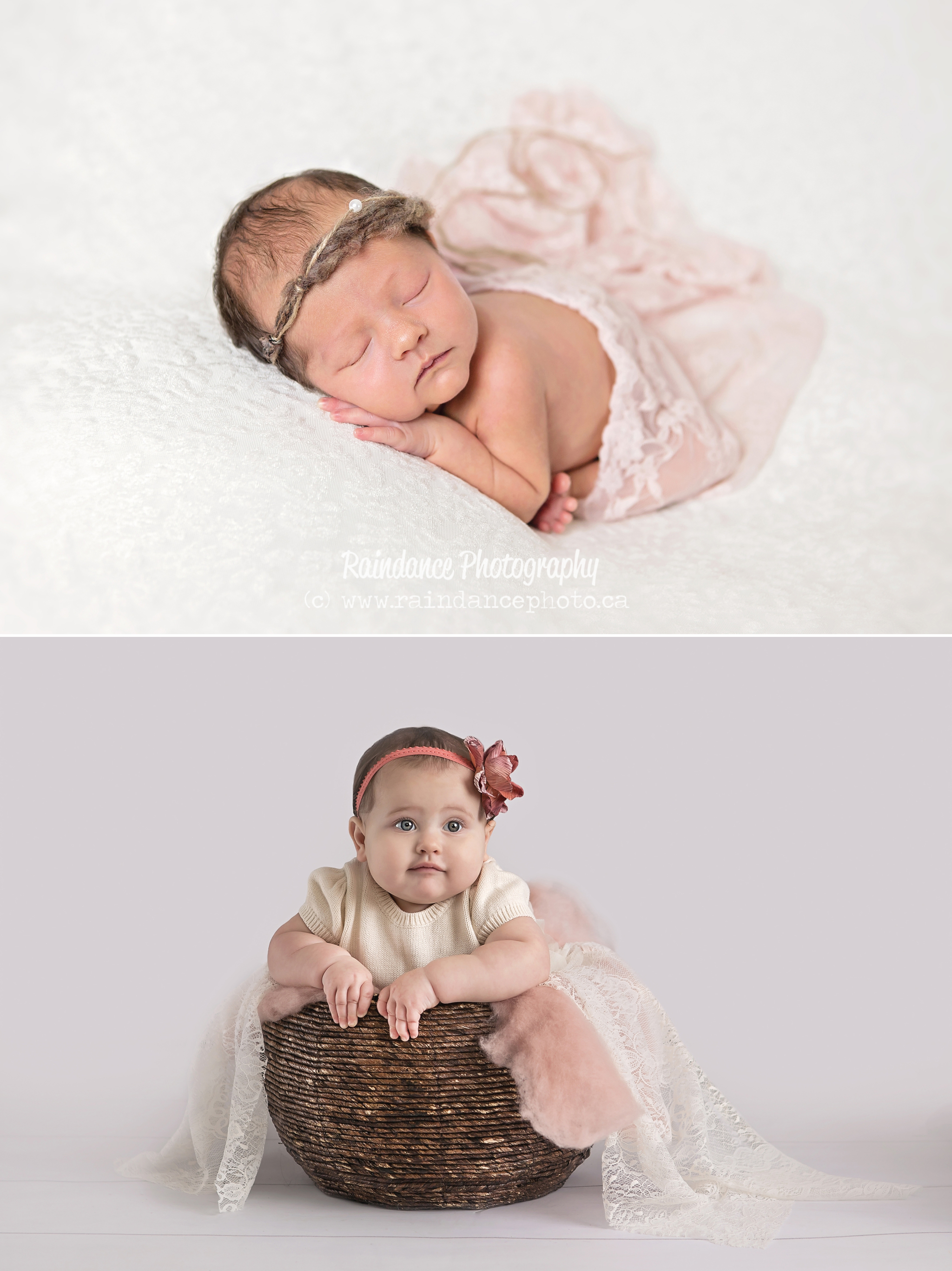 Isabella Newborn and One Year 1