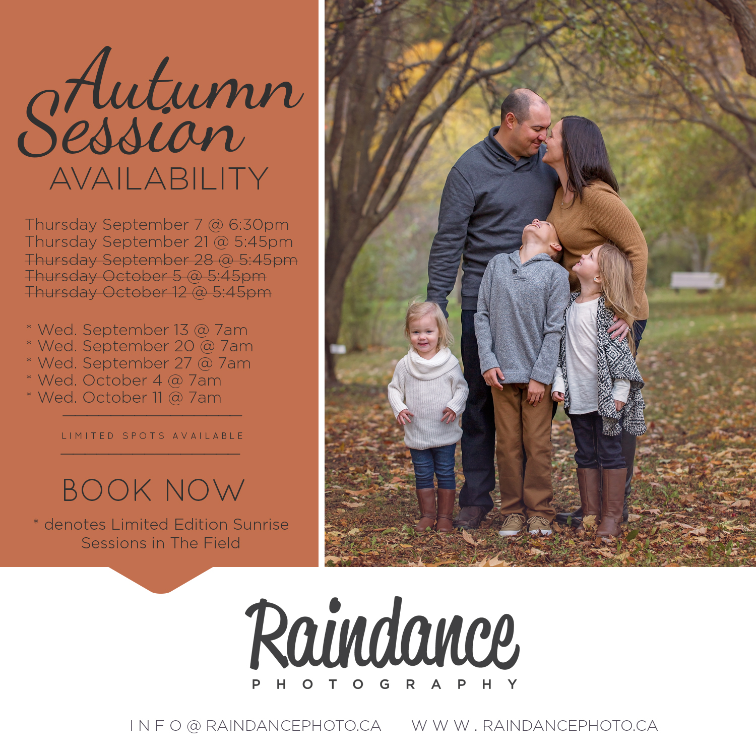 Fall Session Availability - 2017